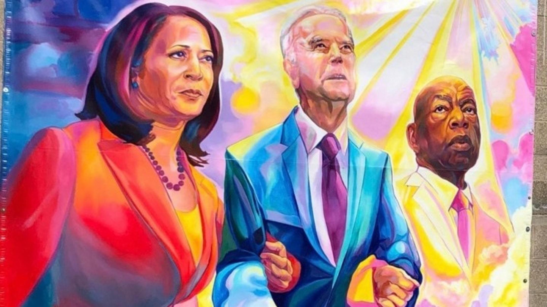 Τζο Μπάιντεν – Καμάλα Χάρις: Έγιναν γκράφιτι από Αφροαμερικανούς καλλιτέχνες (pics)