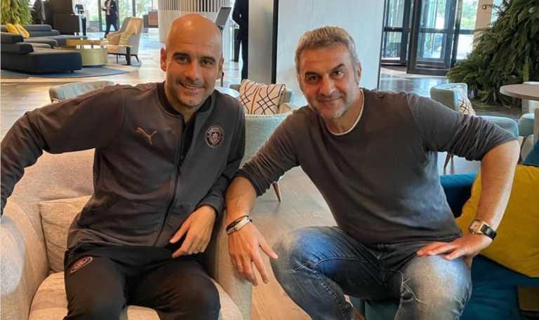 Ολυμπιακός – Μάντσεστερ Σίτι: Συνάντηση Γκουαρντιόλα με Δέλλα (pic)