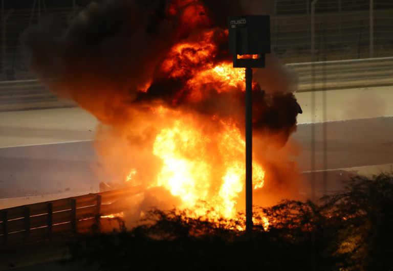 Formula 1: Τρομακτικό ατύχημα! Τυλίχτηκε στις φλόγες και εξερράγη το μονοθέσιο της Haas (pic+video)