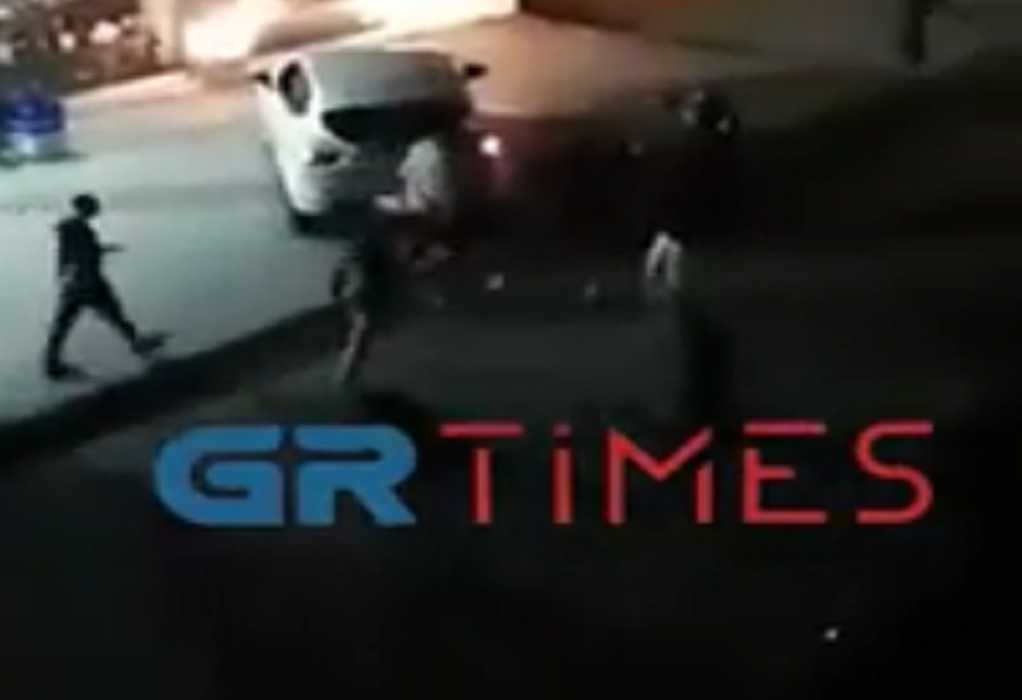 Θεσσαλονίκη: Ξύλο ξανά στη μέση του δρόμου! (video)