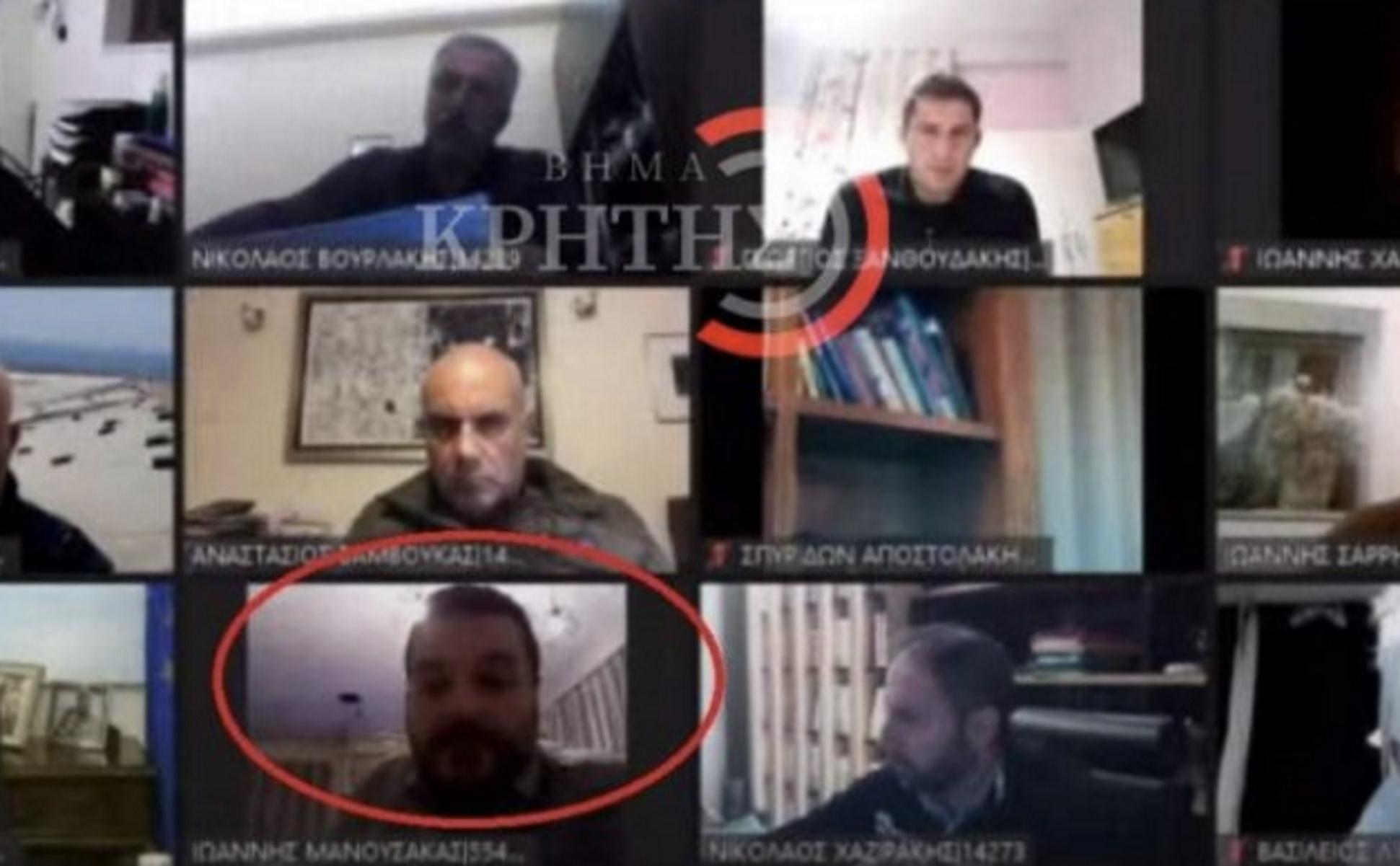 Χανιά: Δημοτικό Συμβούλιο με απρόοπτα – Μπήκε στην τηλεδιάσκεψη και έγινε το… έλα να δεις (video)