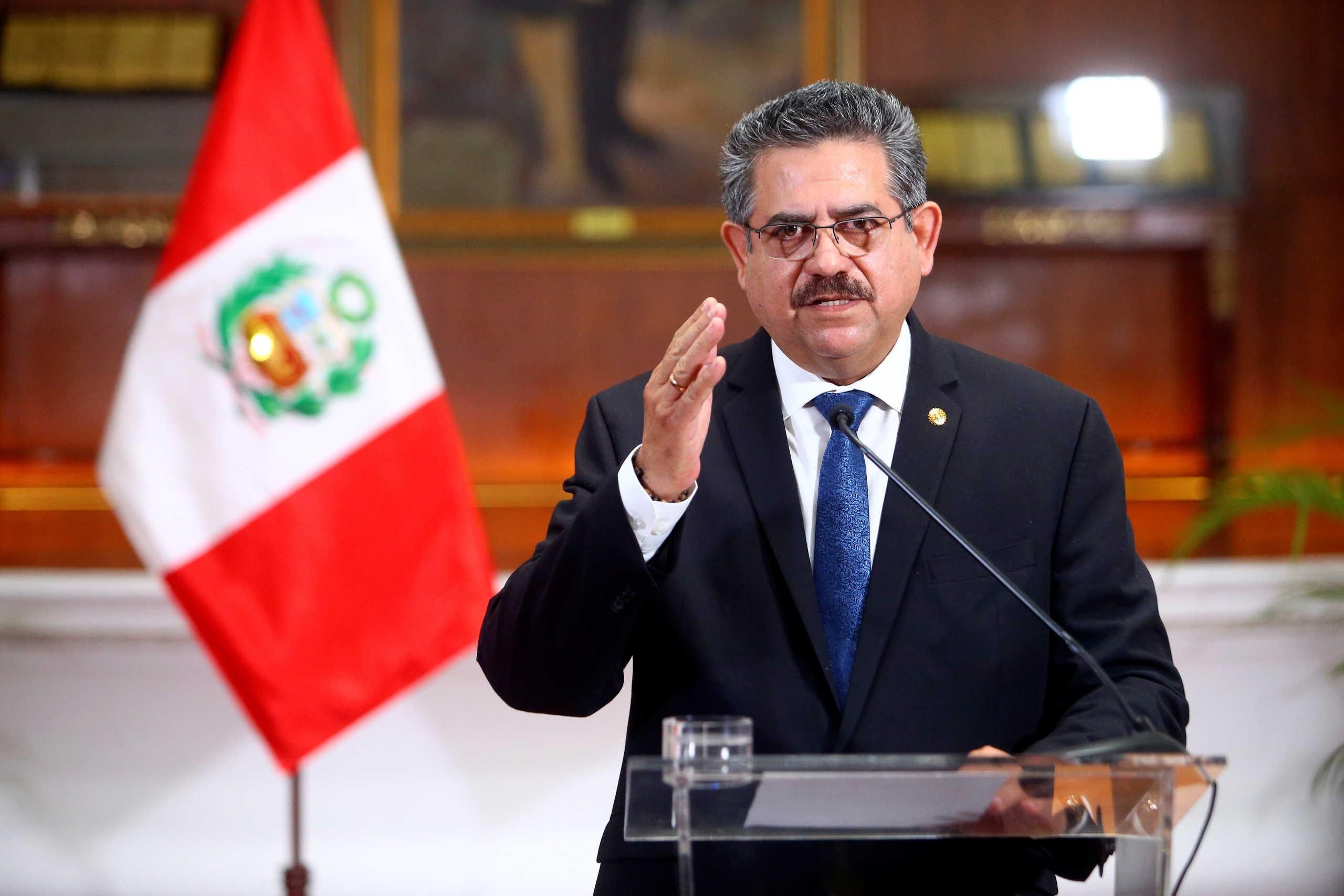 Περού: Παραιτήθηκε ο μεταβατικός πρόεδρος – Νεκροί και τραυματίες στις διαδηλώσεις εναντίον του (pics, vid)