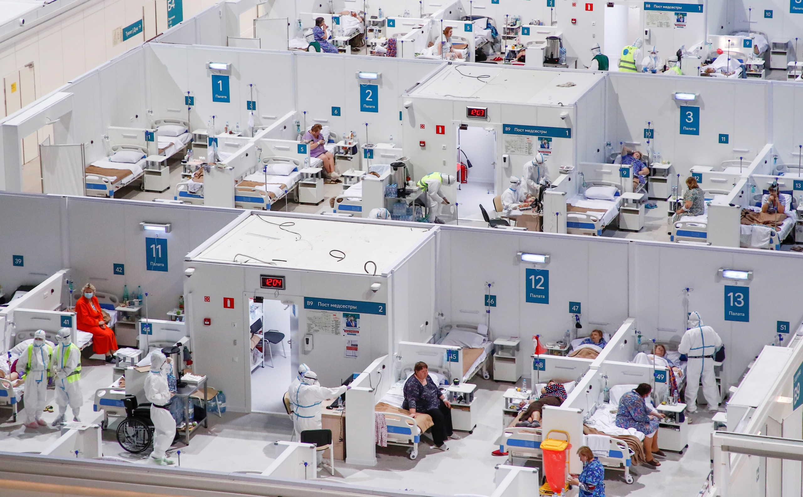 Ρωσία παγοδρόμιο γίνεται νοσοκομείο για κορονοϊό