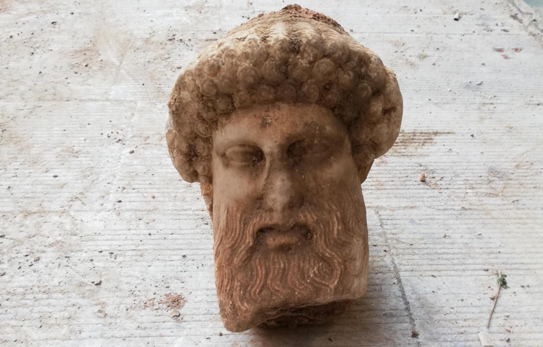 θεός Ερμής αρχαία κεφαλή
