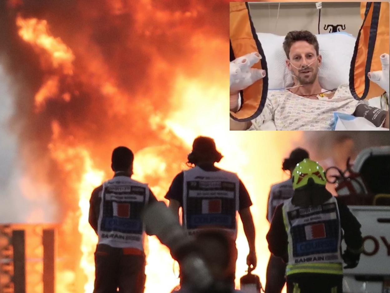 Formula 1: Ο πιλότος που γλίτωσε από τις φλόγες μιλάει μέσα από το νοσοκομείο (video)