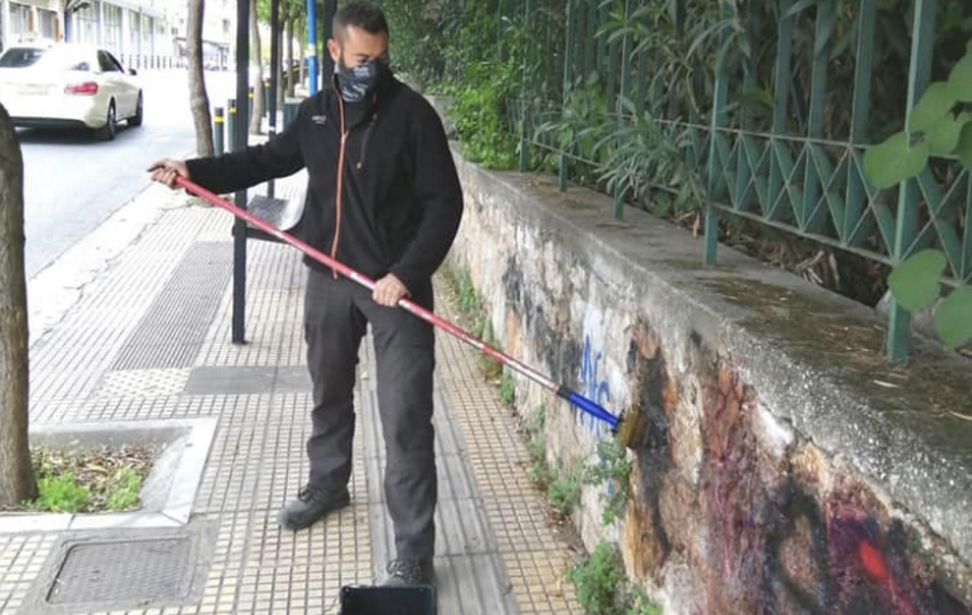 Δήμος Αθηναίων: Καθάρισε από γκράφιτι δημόσιους χώρους – Η ανάρτηση Μπακογιάννη (pics, video)