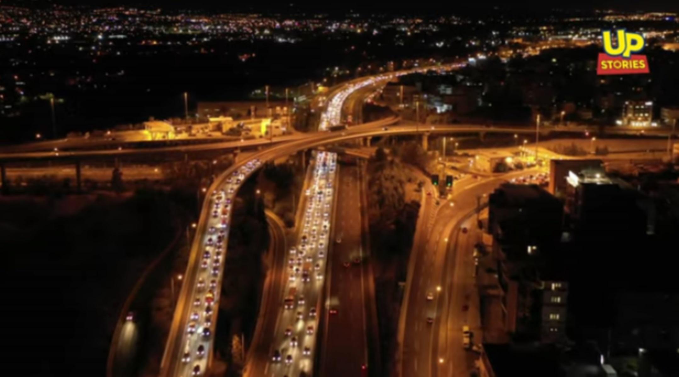 Απίστευτο video: Η ιστορική κίνηση στους δρόμους της Αττικής παραμονή του lockdown