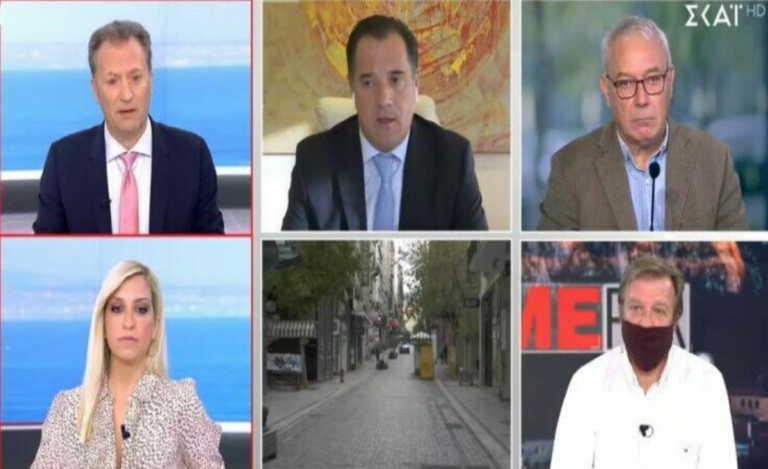 Ένταση στον αέρα με Γεωργιάδη και δημοσιογράφο:Είμαστε καλύτεροι από το Βέλγιο, το πανηγυρίζουμε (vid)