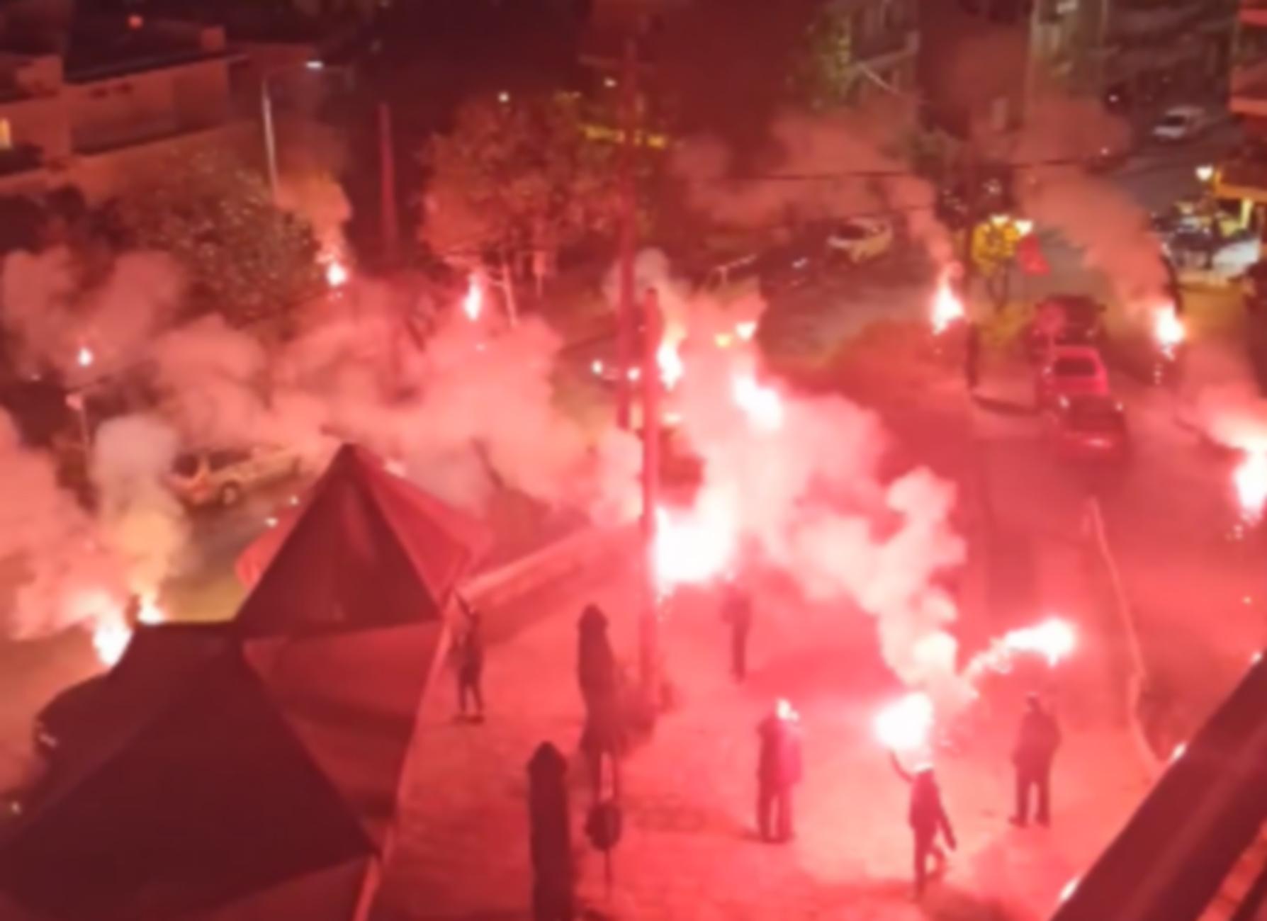 """Έβαλαν """"φωτιά"""" στη Θεσσαλονίκη για να γιορτάσουν τον Ηρακλή (videos)"""