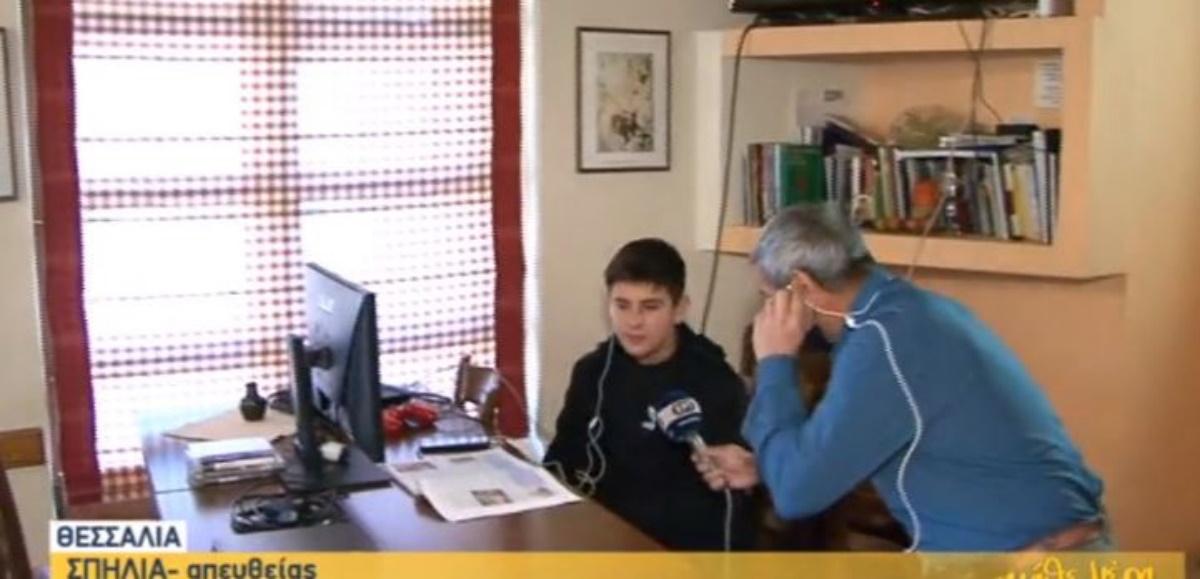 Τηλεκπαίδευση: Mαθήματα ακόμα και σε… καφενείο κάνουν στη Θεσσαλία(vid)