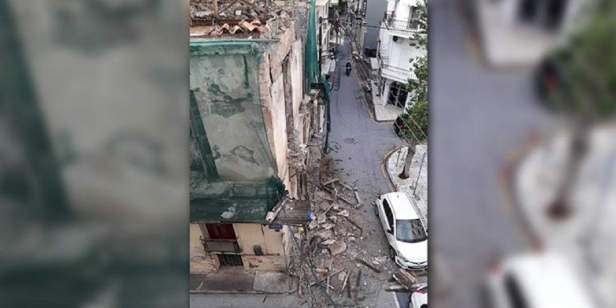 Κρήτη: Κατέρρευσε κομμάτι σπιτιού στο Ηράκλειο!