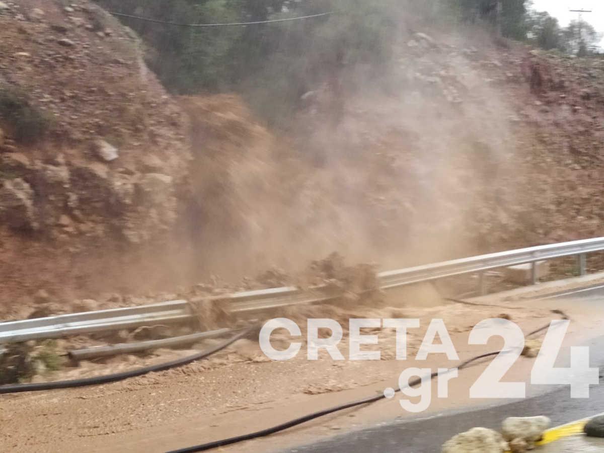 Η Κρήτη στο έλεος ακραίων καιρικών φαινομένων – Δραματικές εικόνες στη Χερσόνησο