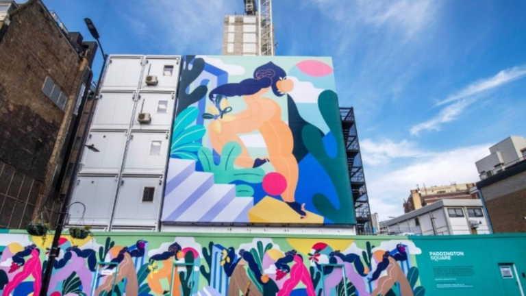 """Έργο τέχνης """"τυλίγει"""" το εργοτάξιο στην Paddington Square στο Λονδίνο"""