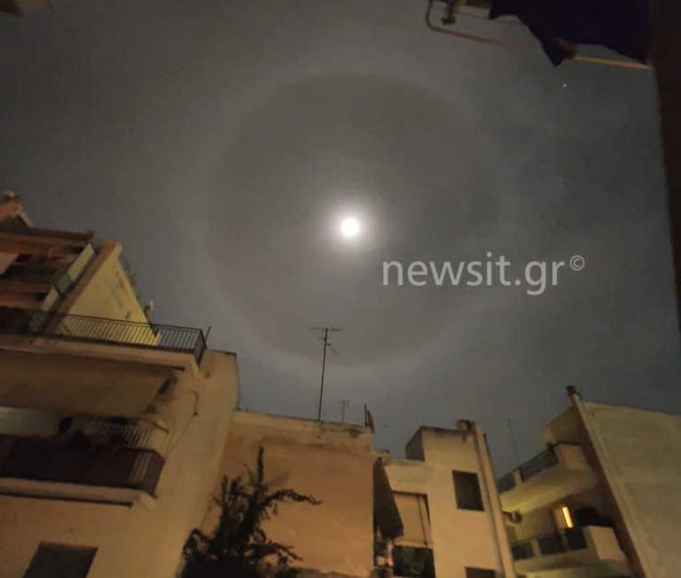 Σεληνιακή «Άλως»: Τι ήταν το… στεφάνι γύρω από το φεγγάρι που έγινε viral