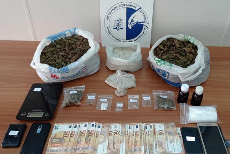 Δυο συλλήψεις για ναρκωτικά στο κέντρο της Αθήνας