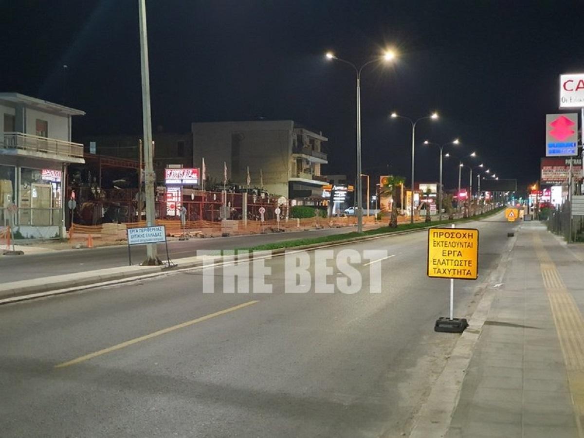 Τέρμα τα γκάζια στους άδειους δρόμους της Πάτρας (video)