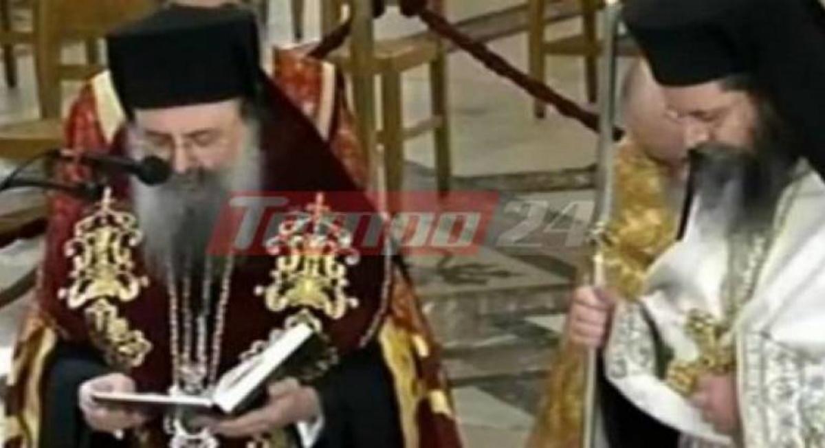 Γονατιστός και συγκινημένος ο Μητροπολίτης Πατρών προσεύχεται στον Άγιο Ανδρέα για την σωτηρία από την πανδημία (pics)
