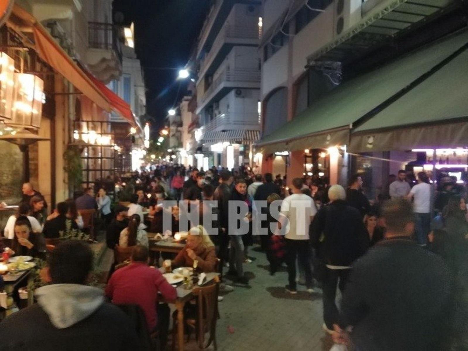 Πάτρα: Κόλαση πριν το lockdown – Όλοι σε καφέ και μπαρ για την τελευταία έξοδο!