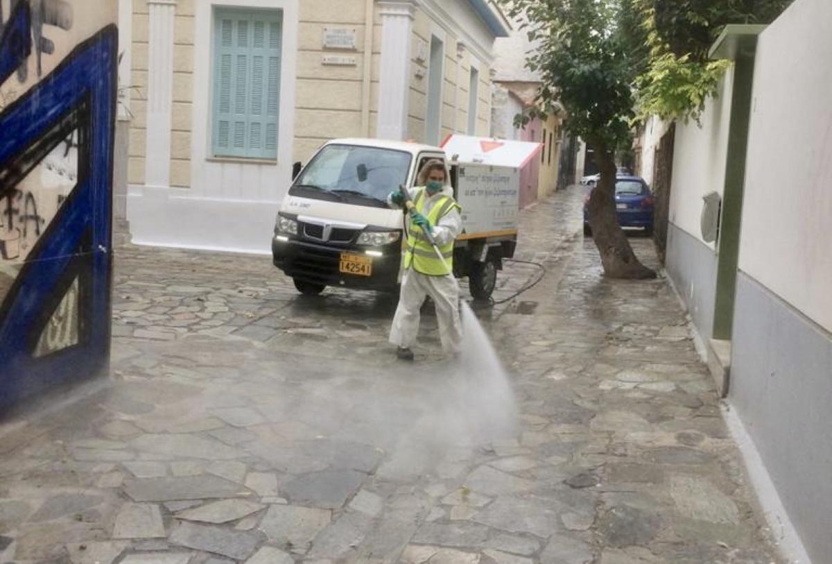 """""""Γυάλισε"""" το Μεταξουργείο μετά τους καθαρισμούς και τις απολυμάνσεις από το Δήμο Αθηναίων! (pics)"""