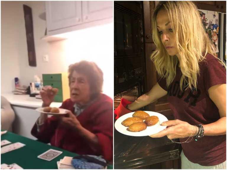 Άννα Βίσση: Η  88χρονη μητέρα της δοκιμάζει τα μελομακάρονα που έφτιαξε και το βίντεο είναι απολαυστικό!