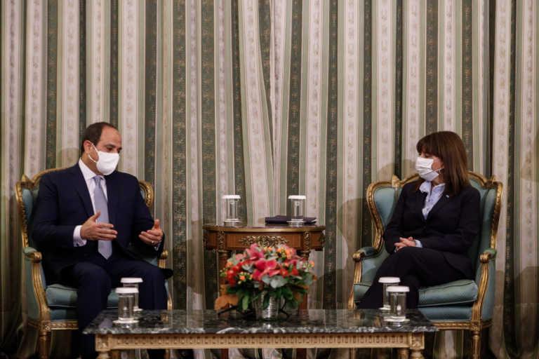 """Συνάντηση Σακελλαροπούλου – Αλ Σίσι με… μηνύματα προς την Τουρκία – """"Είμαστε υπέρ της Ελλάδας"""" (pics)"""