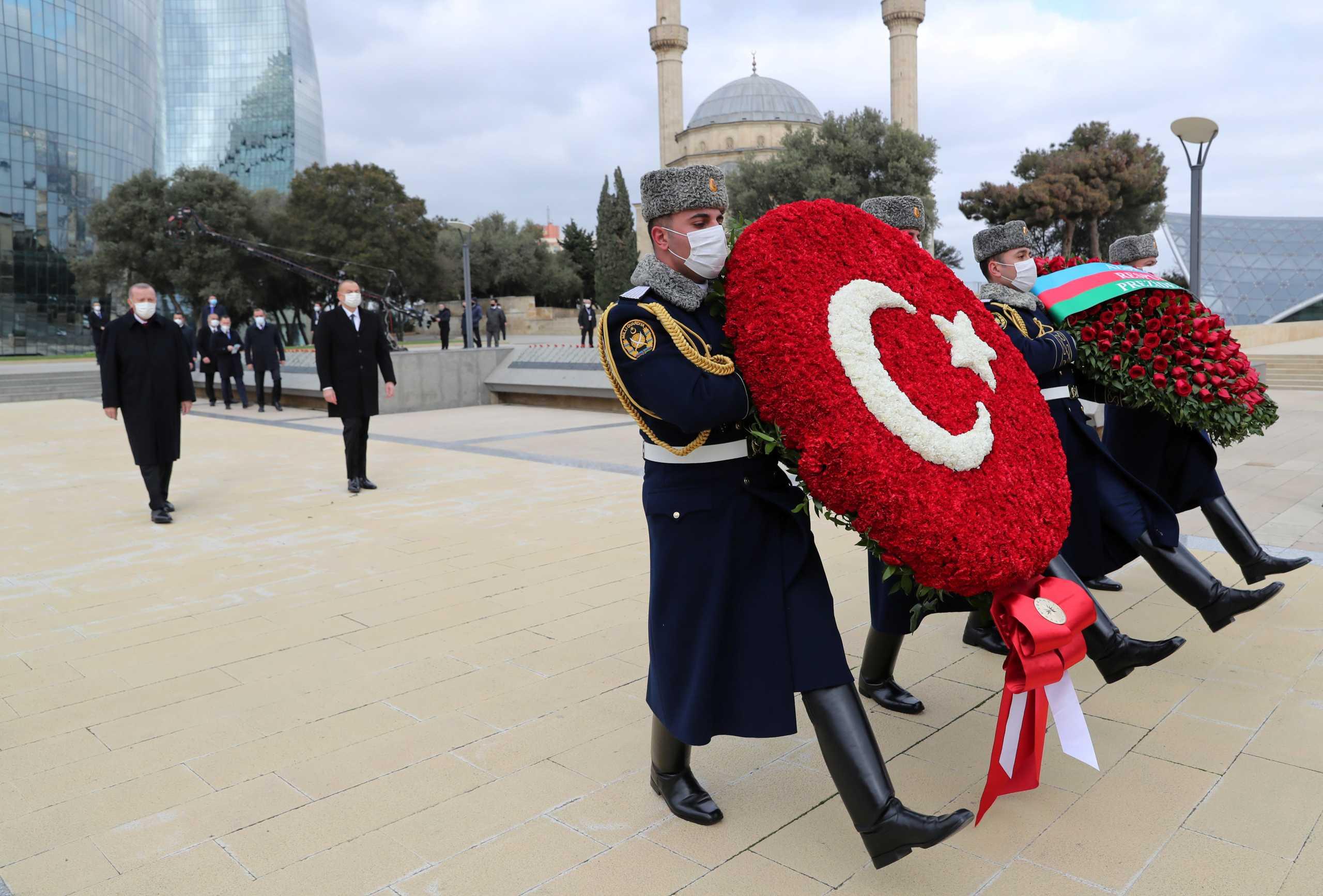 Ερντογάν και Αλίγιεφ πανηγυρίζουν τον θρίαμβό τους στο Ναγκόρνο Καραμπάχ [pics, vid]