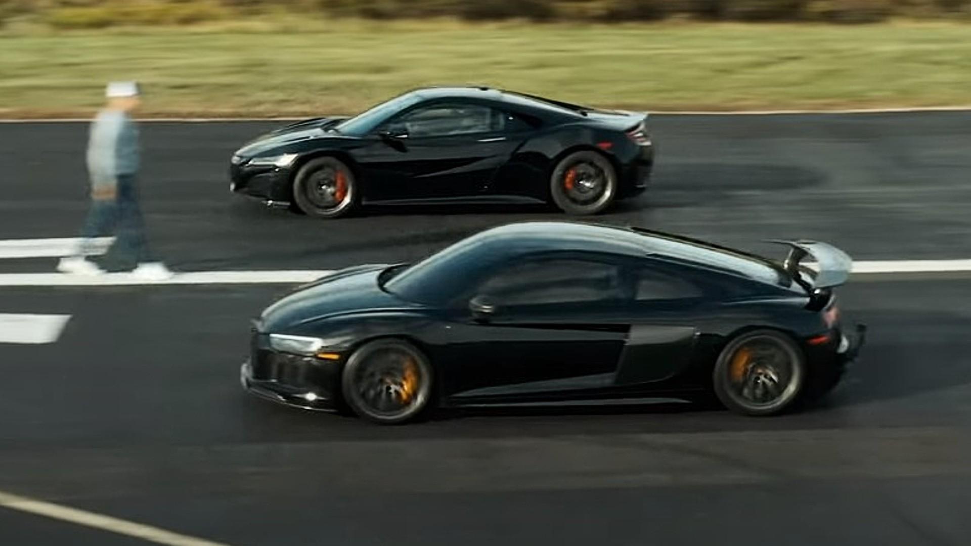 Κόντρα μεταξύ Audi R8 V10 και Honda NSX [vid]