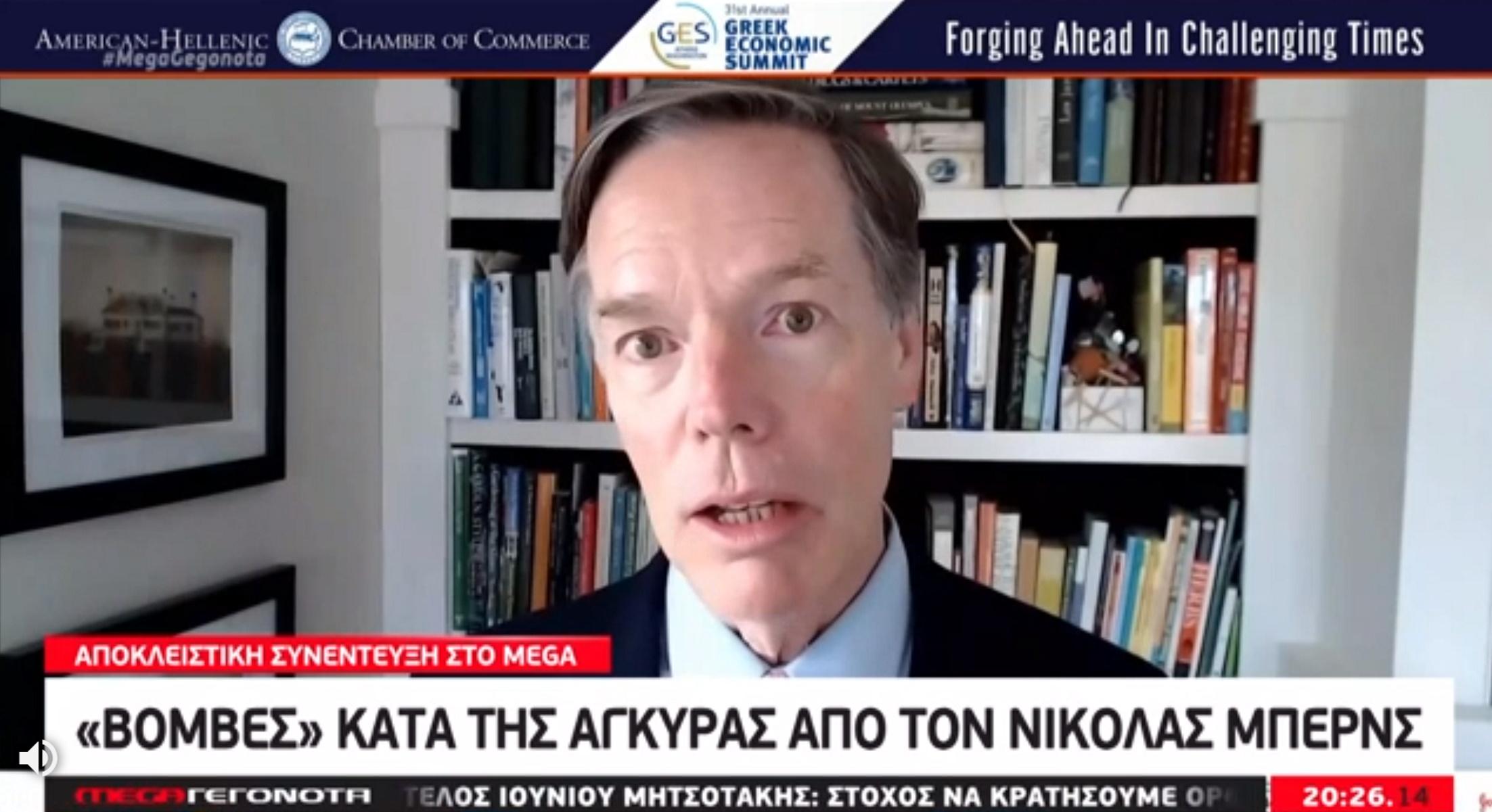 Νίκολας Μπερνς: Έξω από τα δόντια για Τουρκία και Ερντογάν – Δεν αποκλείει θερμό επεισόδιο (video)