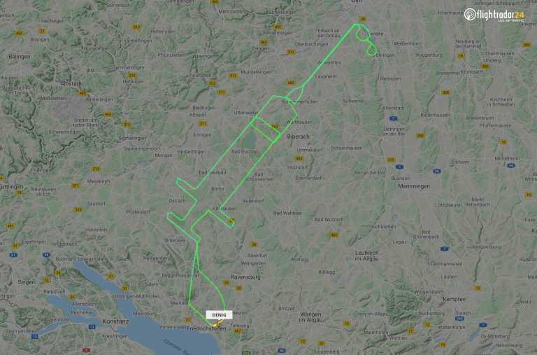 Γερμανός πιλότος έκανε πτήση σε σχήμα σύριγγας με αφορμή τον εμβολιασμό κατά της πανδημίας