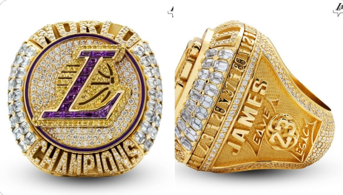 Λέικερς: Το υπέρλαμπρο δαχτυλίδι του πρωταθλητή με την «αύρα» του Κόμπι Μπράιαντ (pics)