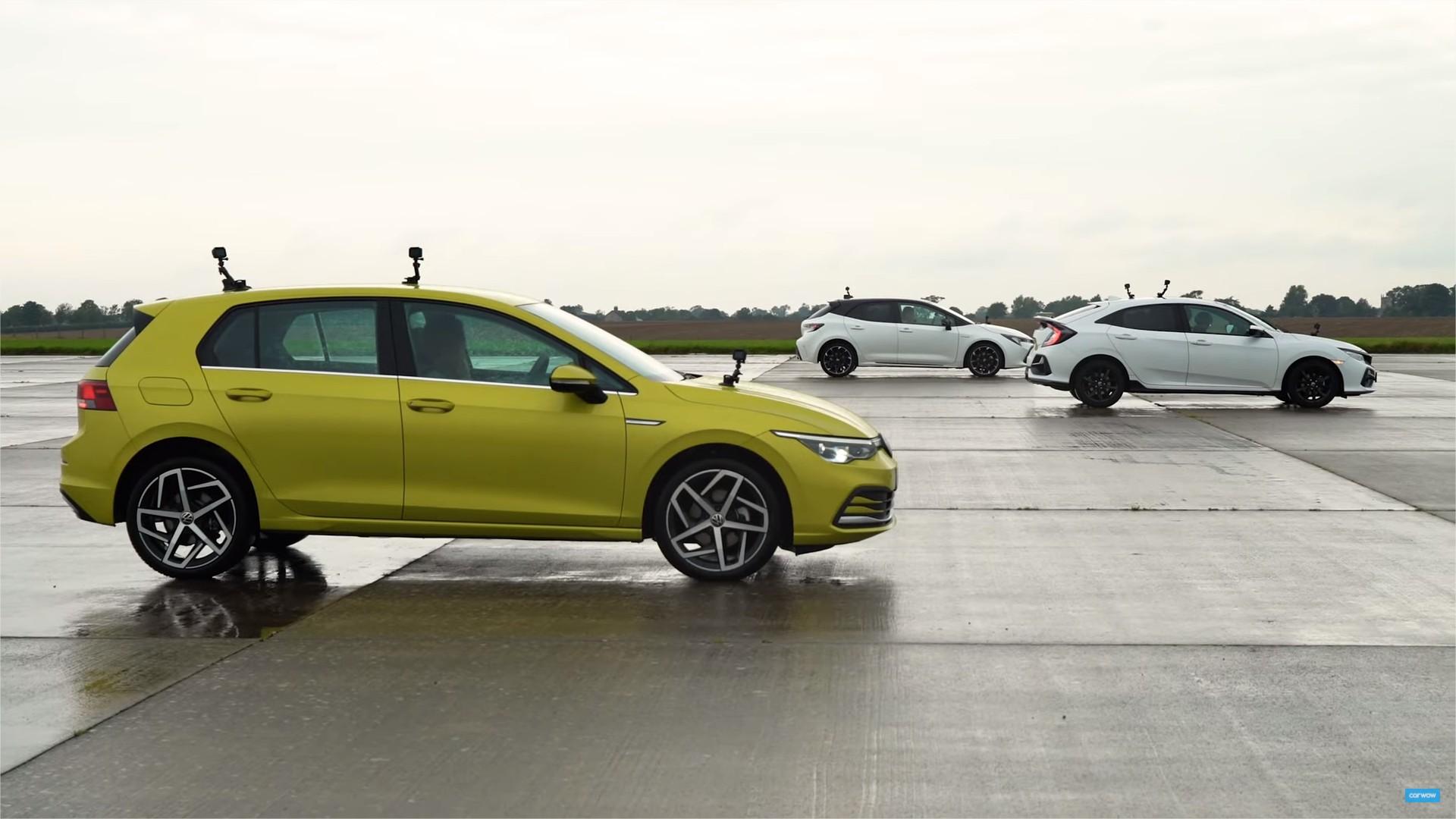 Toyota Corolla, Honda Civic ή VW Golf: Ποιό κερδίζει τη μάχη της ταχύτητας; [vid]