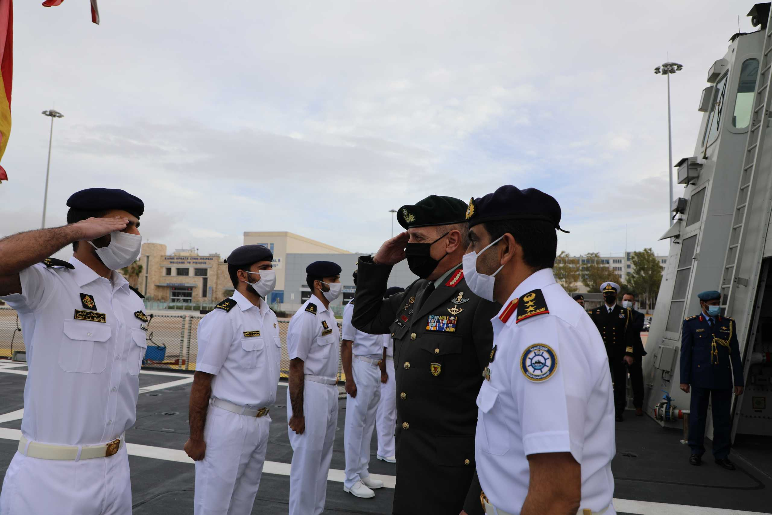 Επίσκεψη Α/ΓΕΕΘΑ Στρατηγού Φλώρου στην Κορβέτα «BAYNUNAH» των ΗΑΕ [pics]