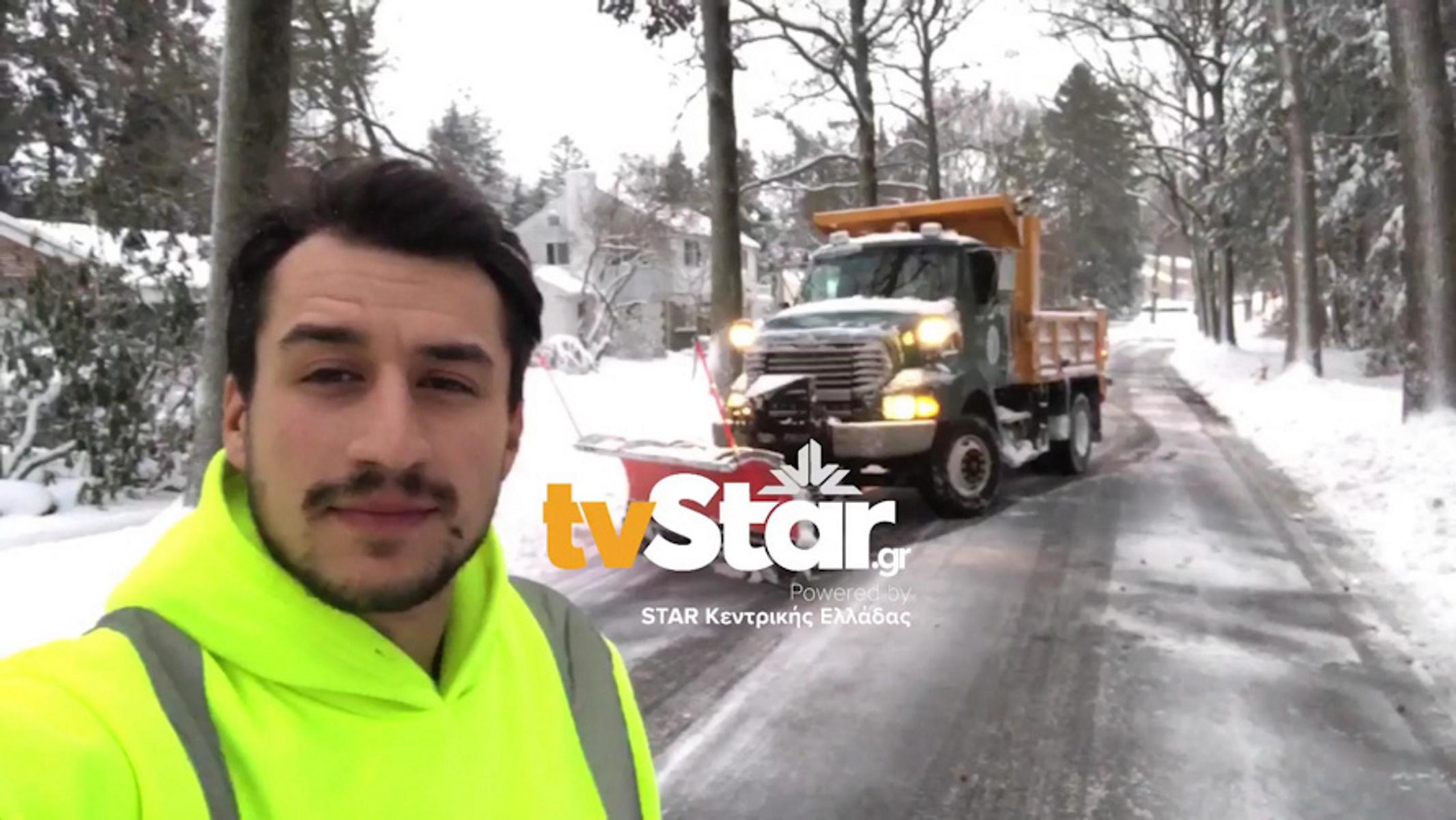 Νέα Υόρκη: Το πατριωτάκι που κρατά ανοιχτούς τους δρόμους της χιονισμένης μεγαλούπολης (video)