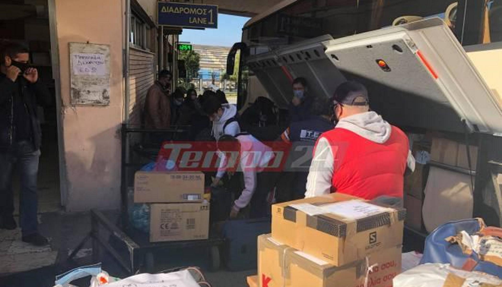 Χαμός στα ΚΤΕΛ Αχαΐας με τα δέματα: Φέτος θα είναι περισσότερα από τους επιβάτες (pics)