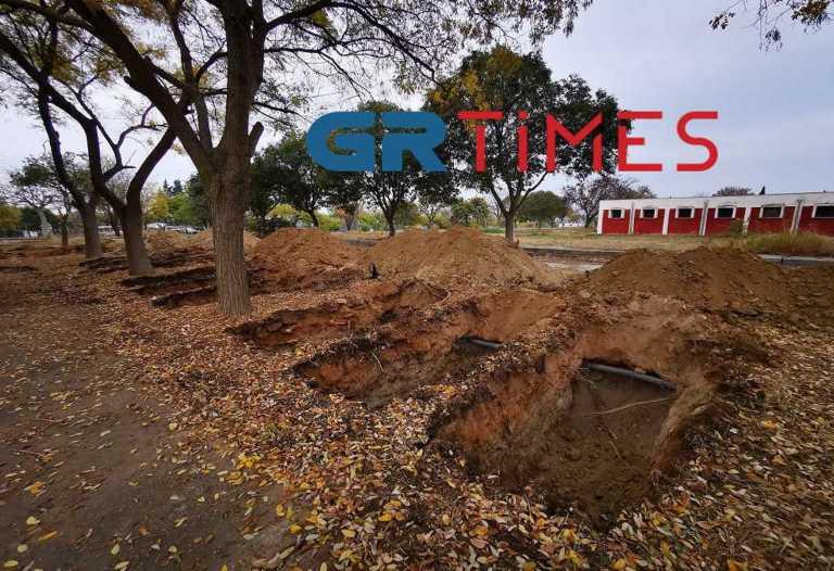 Ανατριχιαστικές εικόνες στη Θεσσαλονίκη! Ανοίγουν 300 τάφους για νεκρούς από κορονοϊό (pics, video)