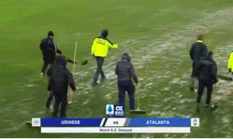 """Αναβλήθηκε το Ουντινέζε – Αταλάντα! """"Πλημμύρισε"""" το γήπεδο (video)"""
