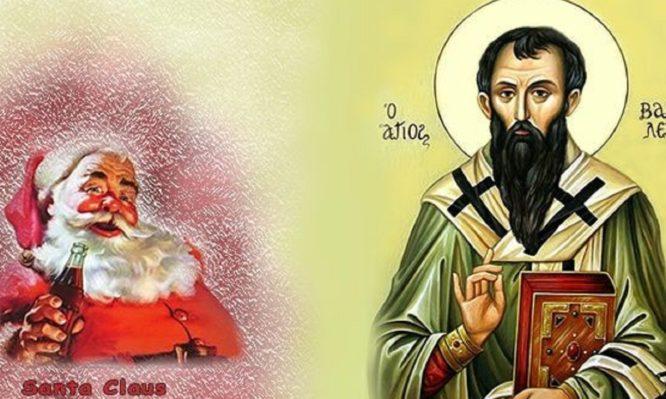 Όλα όσα θέλετε να ξέρετε για τους παράλληλους βίου του Άγιου Βασίλη και του  Santa Claus