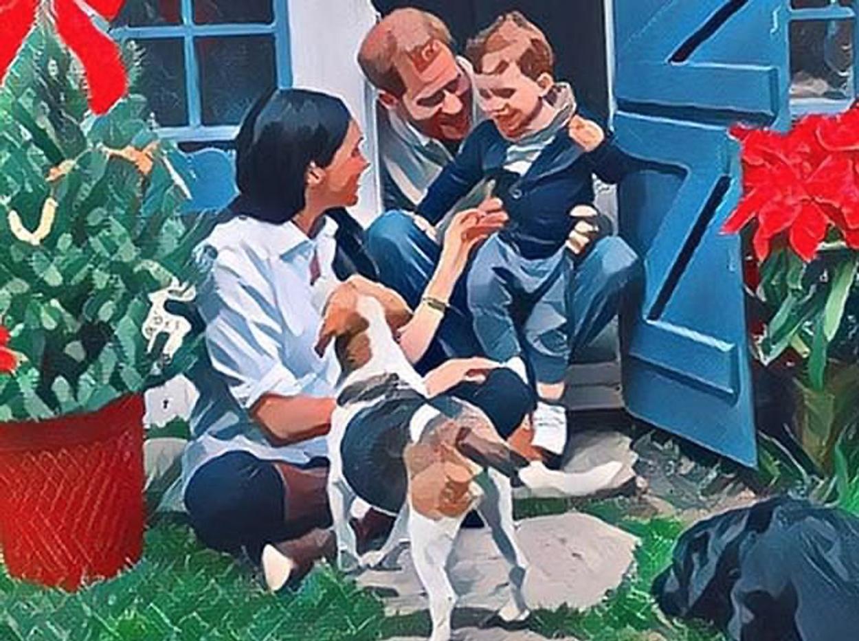 Η χριστουγεννιάτικη κάρτα του Χάρι και της Μέγκαν με τον μικρό Άρτσι έχει μια έκπληξη