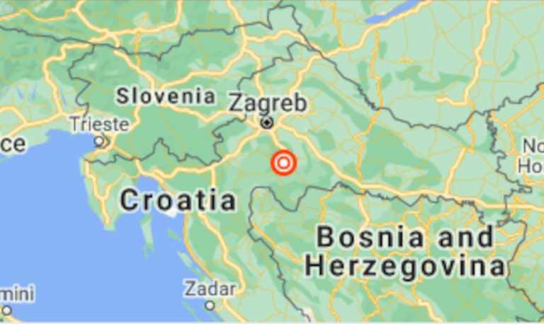 Κροατία: Σεισμός 5,2 Ρίχτερ κοντά στο Ζάγκρεμπ