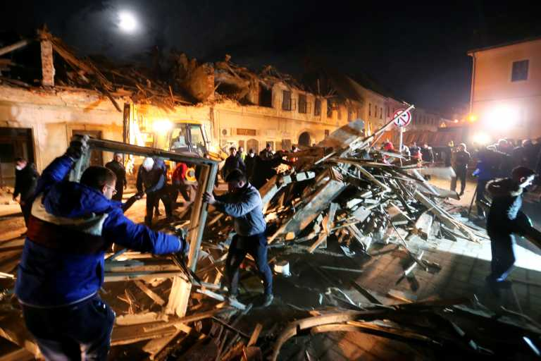 Σεισμός στην Κροατία: Αγωνία στα χαλάσματα – Πέντε νεκροί και 20 τραυματίες