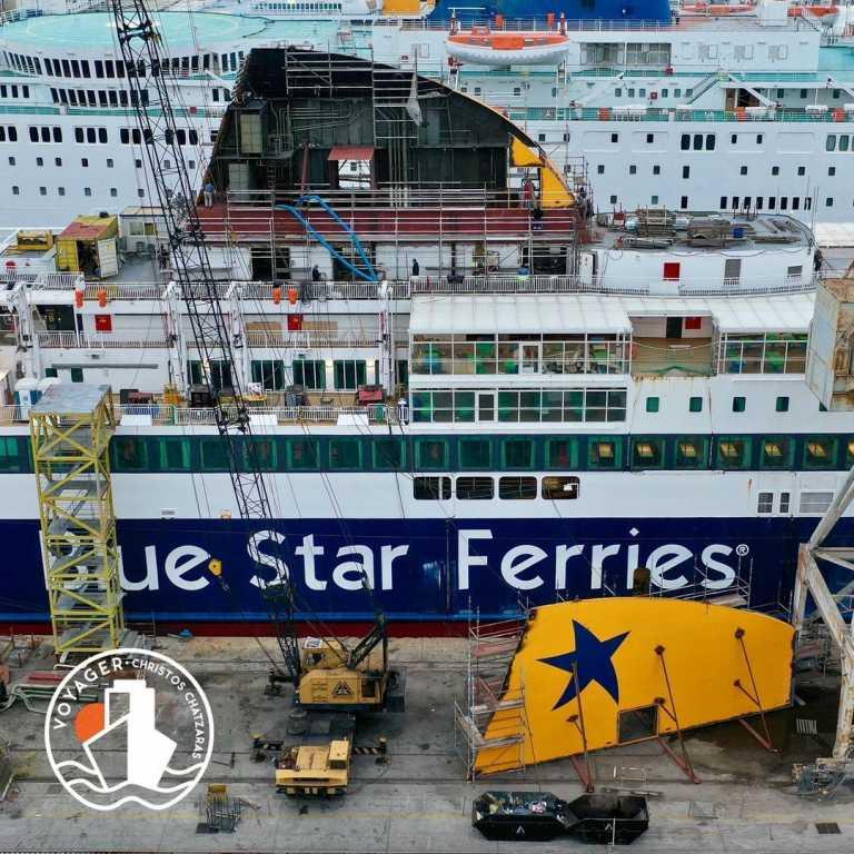 """Κυκλάδες: Έτσι αλλάζει το Blue Star Delos! """"Λίφτινγκ"""" στο πλοίο που αγαπήθηκε όσο λίγα (Φωτό)"""