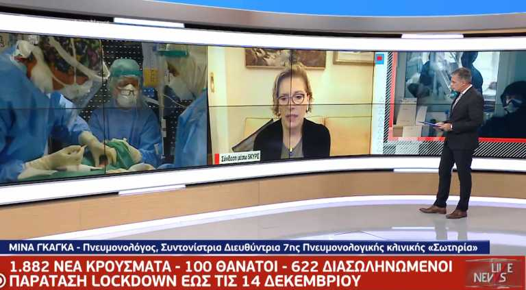 Γκάγκα στο Live News: «Τα νοσοκομεία εξακολουθούν να πιέζονται – Δεν υπάρχει θέμα με το εμβόλιο»