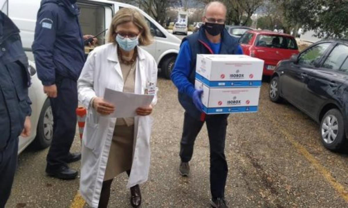Έφτασαν στα Ιωάννινα οι πρώτες δόσεις του εμβολίου για τον κορονοϊό (pics)