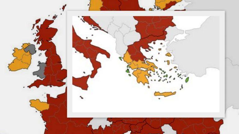 koronoios eikona 2 - Κορωνοϊός: «Πορτοκαλί» μετά από καιρό η μισή Ελλάδα