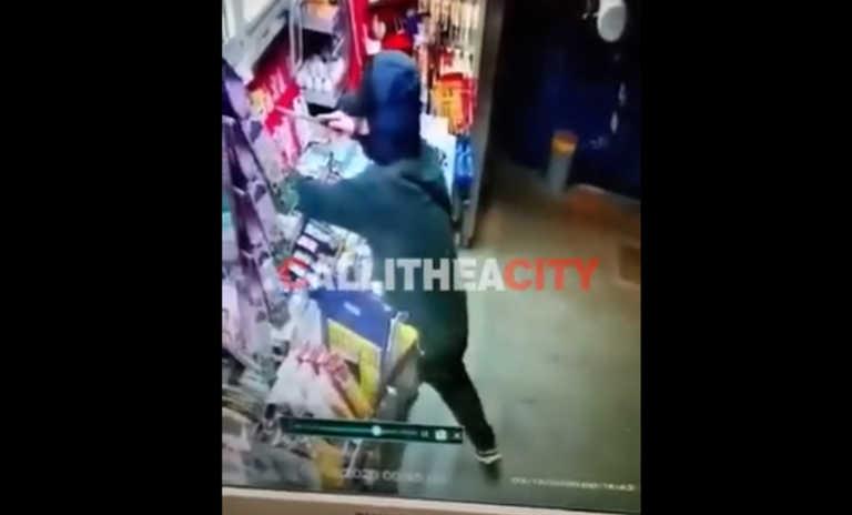 Βίντεο σοκ από απόπειρα ληστείας στην Νέα Σμύρνη – Απειλούσε με μαχαίρι περιπτερά