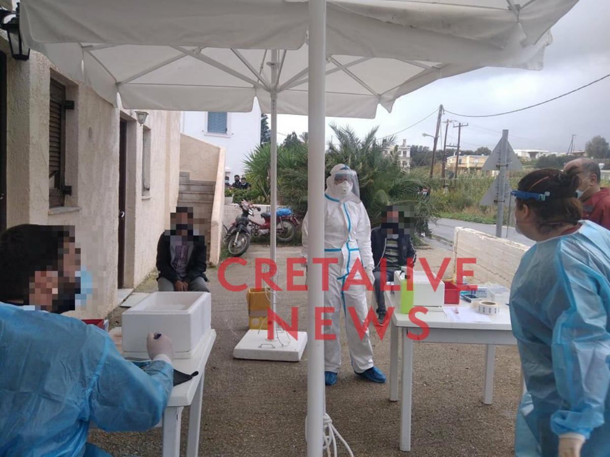 Κρήτη:Σε καραντίνα 100 εργάτες γης στο Μακρύ Γιαλό – Επί ποδός και η ΕΛ.ΑΣ. (pics)