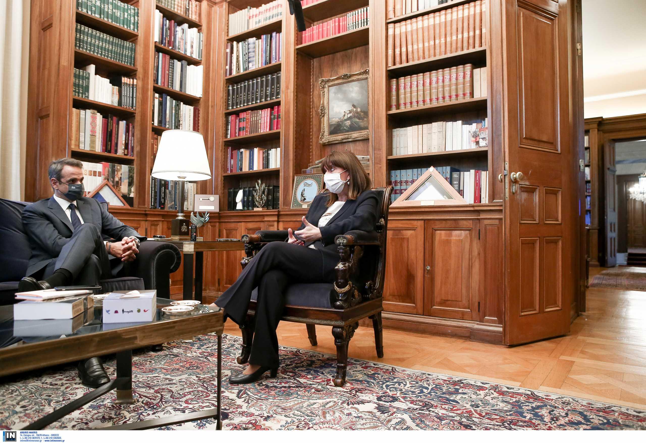 Συνάντηση Σακελλαροπούλου – Μητσοτάκη τη Δευτέρα