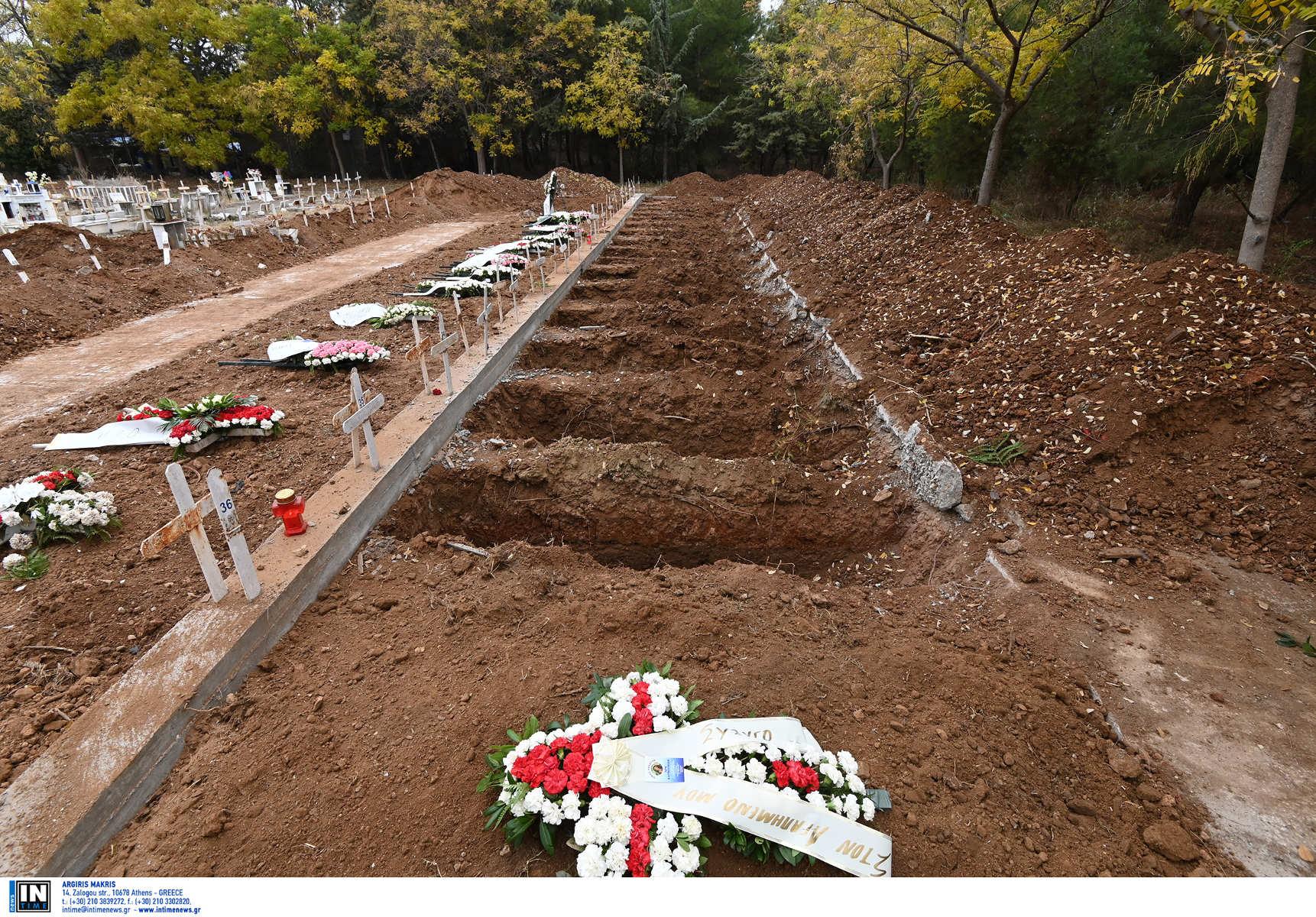 Κορονοϊός: Εικόνες σοκ στα νεκροταφεία της Θεσσαλονίκης – Αμέτρητοι τάφοι για τα θύματα της πανδημίας