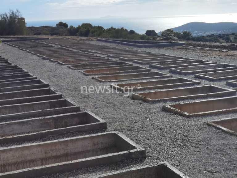 Σκληρή και αμείλικτη πραγματικότητα – Ειδικοί χώροι για θανόντες από Covid στο νεκροταφείο Βάρης – Βούλας Βουλιαγμένης