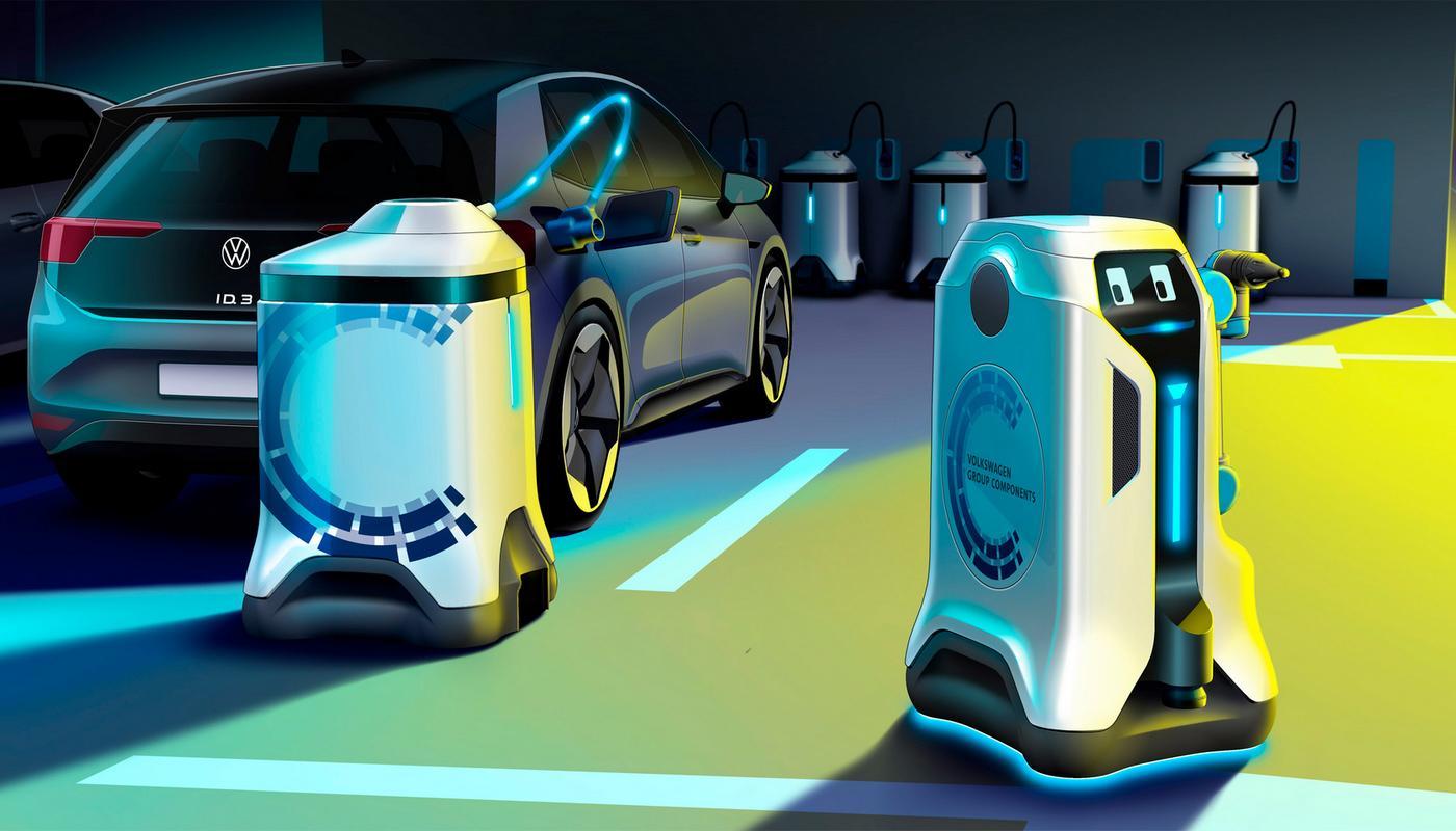 H VW έφτιαξε ρομπότ για τη φόρτιση των ηλεκτρικών αυτοκινήτων! [pics]